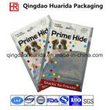 Sacchetto di plastica popolare su ordinazione del pacchetto della guarnizione del quadrato per alimento per animali domestici