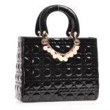 Новейшие корейском стиле лакированная кожа решетке женская сумка Vintage Pear дамской сумочке (ГБ#CE0401#)