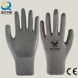 Les nitriles d'interpréteur de commandes interactif de polyester ont enduit les gants de jardin de travail de sûreté (N6088)