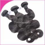 2015高品質100%のインド人のバージンの人間の毛髪のよこ糸