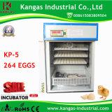 Incubateur industriel approuvé d'oeufs d'aviculture de la CE pour 264 oeufs