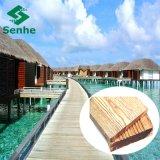 Pavimentazione di bambù esterna carbonizzata con il bambù della foresta di Eco