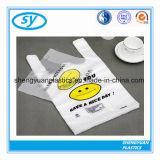 Haltbare Plastikshirt-Einkaufstasche für die Speicher verwendet
