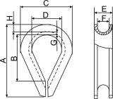 스테인리스 DIN6899 유형 철사 밧줄 골무