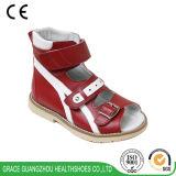 Красный цвет сандалии детей протезный Healing ягнится крюк сандалии & сандалия петли