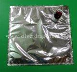 Saco de alumínio asséptico do costume 5L na caixa, para o suco/água/saco do espírito