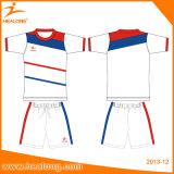 速のHealongの乾燥したデジタルによって昇華させるサッカーのジャージーの均一衣類のスポーツ・ウェア