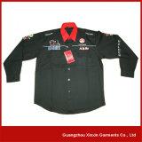 Manicotto lungo che corre la camicia della squadra della squadra di pozzo con i vostri marchi (S27)