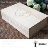 Casella di legno su ordinazione di Hongdao per le foto e l'imballaggio Wholesale_F del USB