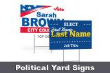 기치 정원을 광-고해서 부동산 야드 기치, 관례에 의하여 인쇄된 정치적인 야드 표시 서명한다