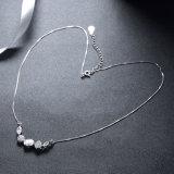 925純銀製の宝石類5のリンクされたジルコンのペンダントのネックレス