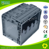 24L Nesting and Stacking Plastic Moving Attached Lid Container for Packing