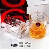 Copo de vidro de vinhos diferentes, Vidro caneca de licor negro, copo de chá de água do leite