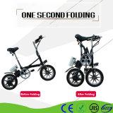 14 Zoll elektrisches Fahrrad für Erwachsene kleines faltbares E-Fahrrad faltend