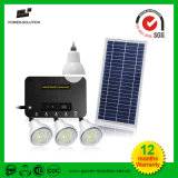 Sistema de energia solar 8W Home Lighting Kit de carregamento para celular