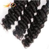 7Aインドのバージンの毛の深い波100%の人間の毛髪