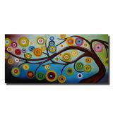 Grand arbre abstrait moderne de l'huile sur toile de peinture La peinture décorative pour salle de séjour Décoration maison grossiste