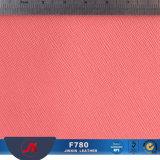 Pele artificial de PVC para notebooks & Embalagem & saco de cosmética, couro Saffiano para decoração