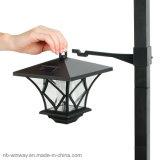 Luz accionada solar de la yarda del LED con 5 pies poste para la iluminación al aire libre