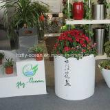 Plantador decorativo da fibra de vidro ao ar livre do cilindro Fo-183