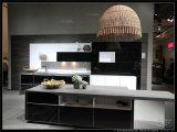 Cabinet 2015 de cuisine noir et blanc de laque de cartel blanc de Welbom