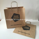 Personnaliser l'impression de logo réutilisent le sac de cadeau de papier d'emballage