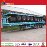2/3 d'axes Flatbed Container Semi-Trailer pour 20-53ft