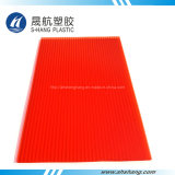 Piastrina di tetto del policarbonato della Gemellare-Parete di colore rosso per materiale da costruzione