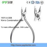 De ortodoncia Kim Combinación alicates, alicates de combinación de Dental Kim con el cortador Yayi-008