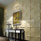 Panneaux de mur ignifuges acoustiques de PVC 3D de modèle pour le matériau de construction