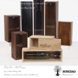 Doos van de Gift van de Wijn van het Deksel van de Douane van Hongdao de Glijdende Houten voor de Kist _E van 6 Fles