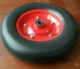 4.00-8 500 libbre della carriola di gomma di gomma solida della gomma piuma libera piana dell'unità di elaborazione