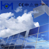 3,2 mm/4,0 mm Trempé Fer basse ultra clair Verre solaire avec l'ISO, SGS, SPF