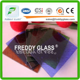 vetro di vetro modellato/arte di vetro modellato/colore della flora di 3mm Ambor/vetro decorativo