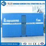 中国の低価格の平らな詰められた小屋のログの計画の中国の鋼鉄容器の家の工場