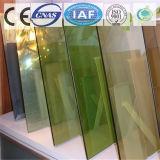 진한 녹색 색을 칠하는 명확한 부유물 또는 부드럽게 한 사려깊은 유리