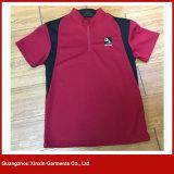 El corte de la camiseta de los deportes y cose las camisetas del poliester de las camisetas (P139)