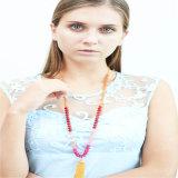 Nuevo diseño de la joyería del collar manera de los granos de cristal coloridos