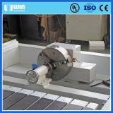 3D木製の切り分ける彫刻の木工業の回転式表CNCのルーター機械