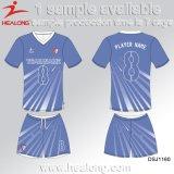 中国の番号および名前の製造者によってカスタマイズされるフットボールのジャージのワイシャツ