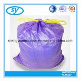 Bolso de basura plástico modificado para requisitos particulares del lazo de la impresión