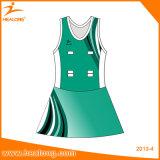 Netball подгонянный Sportswear сублимации конструкции Healong самым последним Джерси
