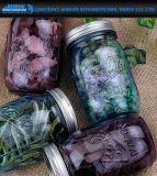 choc de maçon coloré par 480ml de bille en verre au vinaigre de fruit avec la couverture