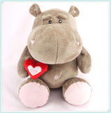 Red Heart Hippo Toy Valentine Plush Toys