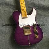 De uitstekende Gitaar van de Douane van de Kwaliteit van Purpleburst van de Hals van de Tint Tele Elektrische