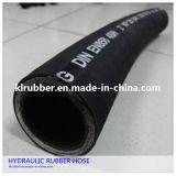 Edelstahl-Draht-umsponnener industrieller hydraulischer Gummischlauch