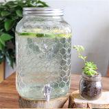 Большого размера лобби со стеклянным кувшином и металлическая крышка стеклянный кувшин для хранения напитков с краном