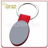 Beëindigt het Gestempelde Geborstelde Staal van de kwaliteit Douane Duurzaam Leer Keychain