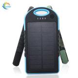 La Banca portatile 5000mAh di energia solare del caricatore solare universale