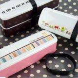 Doos van de Lunch Bento van de Container van het voedsel de Plastic met Eetstokjes voor Sushi 20016